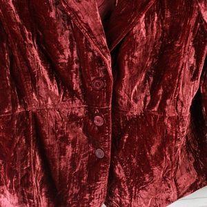 Lane Bryant Jackets & Coats - Lane Bryant Size 20 Crushed Velvet Blazer Red